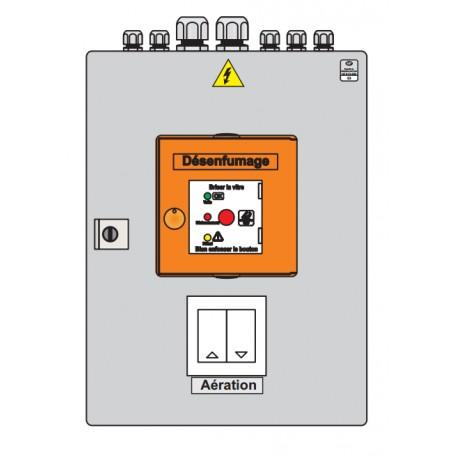Centrala mixta (fum+ventilatie), 24V, 10A